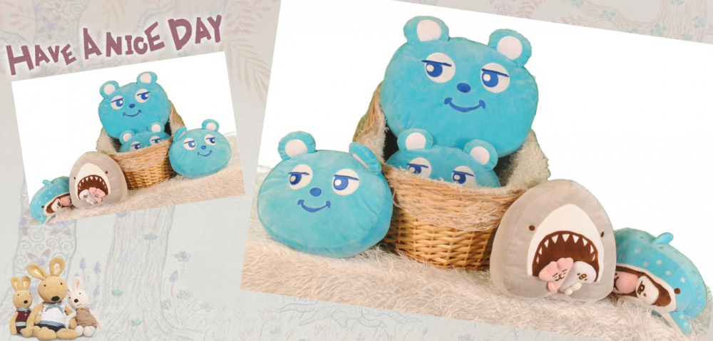 PP Cotton Filled Bear Head Pillow