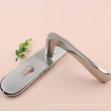 Poignée de porte à levier en acier inoxydable de qualité supérieure avec plaque