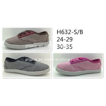 Chaussures décontractées en toile de tissu à rayures (H632-S & B)