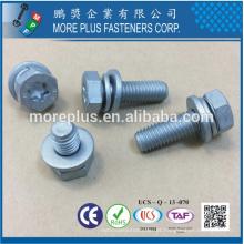 Feito em Taiwan Classe 8.8 DIN933 Hex Head TORX com DIN6902A Flat Washer e DIN6905 Spring Washer Sems Screws
