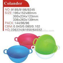 Colorful plastic colander with handle