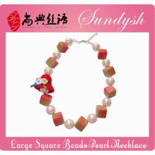 Spécial enfants bijoux fait à la main Big Pearl Square Chunky perle enfants bijoux