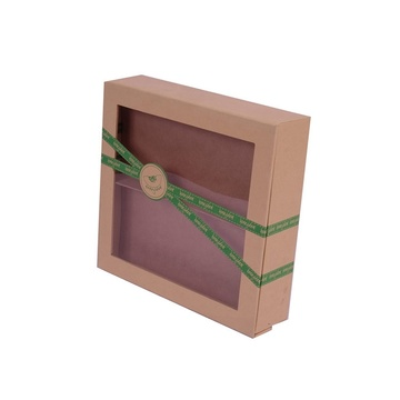 Προσαρμοσμένο Clear PVC Window Kraft Paper Box
