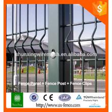 Alibaba galvanizado gran vista de alambre soldado valla / doblar valla / malla de alambre cerca de la pared límite