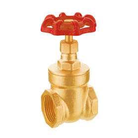 screw end forged brass gate valve
