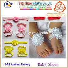 Las sandalias descalzas más baratas del bebé sandalias paquistaníes