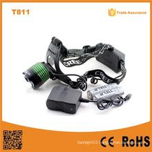 T811 New Xml T6 10W LED Head Lights Lamp Camping&Hiking 10W T6 LED Zoom Headlamp
