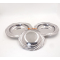 "cheap mirrored 8"" stainless steel round deep soup plates for sale"