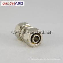 Brass Compression Fitting with Equal Coupling