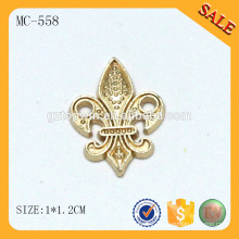 MC558 Fashion design custom tag sew on gold nameplate for apparel