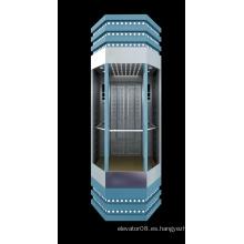 Material de construcción Ascensor de vidrio