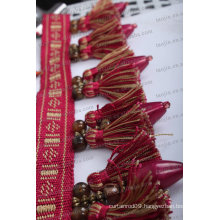 2016new design tassel and beads Fringe for Curtain decoration