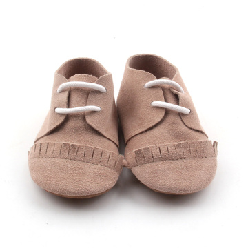 Brown Lacework Soft Sole Baby Oxford schoenen