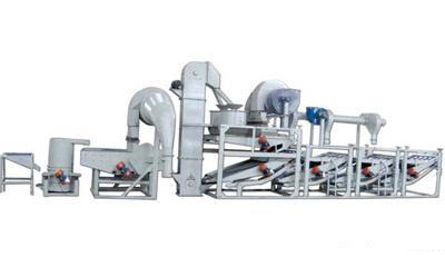Sunflower seeds dehulling & separating equipment