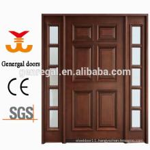 100% solid wood exterior front double door