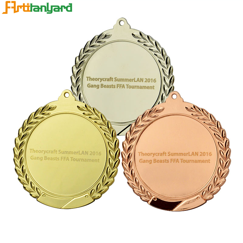 Metal Medal With Different Plating Colors