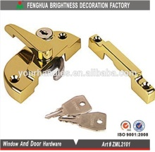 Brass Window Fitch Fastener, hook bolt door lock, window securety door lock