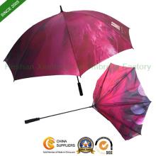 Personnalisé publicitaire parapluie de Golf avec panneau plein impression (GED - 0027FC)