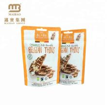 Impression personnalisée Snack Doypack Mat Aluminium Foil Cookies Emballage Mylar Ziplock Sacs En Gros Usine