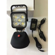 Lámpara de trabajo recargable de 15W de emergencia LED