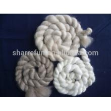 Tops de cashmere chino blanco / gris claro / marrón