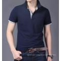 Fitted Fashion Plain Cotton Custom Wholesale Men Polo T Shirt
