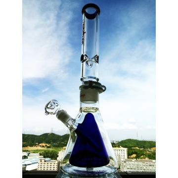 Couvercle en verre détachable en hauteur de 18 pouces Doublure en eau double en verre intérieur Plateaux à huile droite Tuyau d'eau fumant
