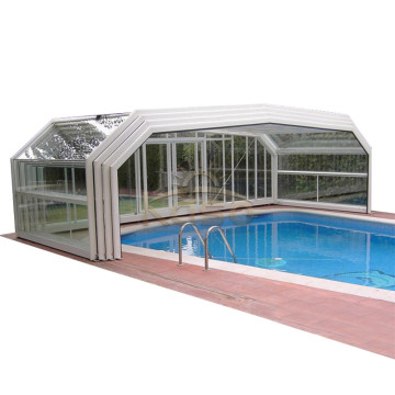Couverture de piscine escamotable enterrée de natation de polycarbonate