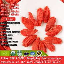 Baya de Goji orgánica medicinal / Baya de Goji seca de Ningxia