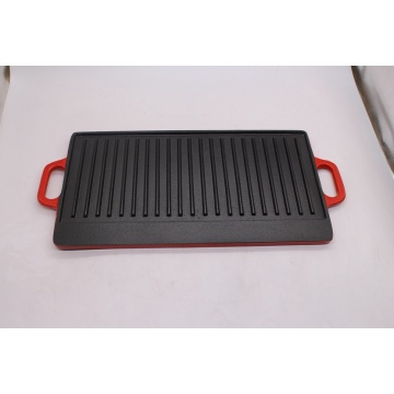dua sisi Cast Iron Griddle