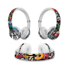 Top Sell Protective Skin Sticker for Beats Solo 2 Headset Wrap Cover for Beats Solo 3 Wireless Headphone