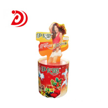 Shampoo cardboard rotating display stand