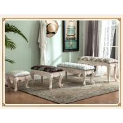 Bench upholstered low seat sofa chair bed room furniture