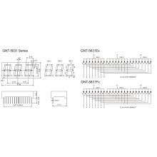 0,56 Zoll 3 Digit 7 Segmentanzeige (GNS-5631Ex-Fx)