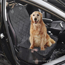 Pet Front Seat Cover for Cars - Black, WaterProof & Nonslip Backing