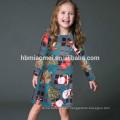 Las muchachas modernas del precio de fábrica viste el vestido de fiesta de la niña del verde 3-5 años de la muchacha viste para la Navidad