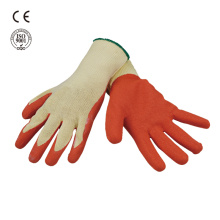 Crinkle coated safety working glove