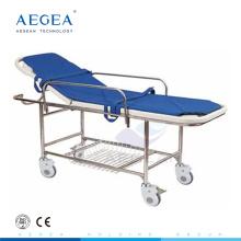 Esteira cirúrgica da emergência do hospital da plataforma da cama do ABS da entrega do quadro do metal AG-HS013 para pacientes