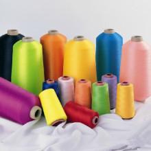 Linha de costura de poliéster girada barata com cores diferentes