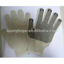Gants PVC tricotés en pointillé
