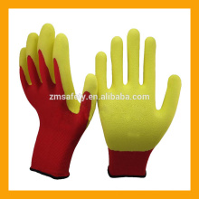 Red Polyester Foam Latex Lady Gloves Latex Picking Work Gloves