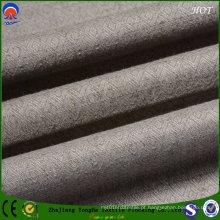 Tela de linho resistente do poliéster do apagão para o uso da cortina da fábrica de matéria têxtil Home