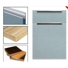 Contraplacado Glossy melamina portas de gabinete de cozinha com faixas de borda (zhuv)
