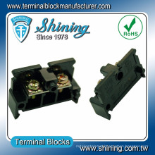 TE-020 Din Rail Mounted 600V 20A Brass PA Terminal Connector Block