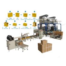 Línea de embalaje de cajas de cartón de embalaje secundario automático