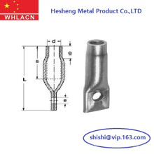 Precast Concrete Lifting Fixing Socket Ferrule with Crosshole Flat End