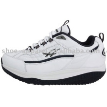 Zapatos blancos de la salud de la PU para el hombre