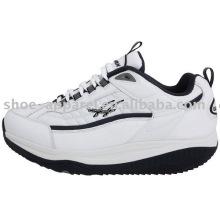 Sapatos de saúde PU branco para homem
