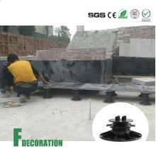Pedestal de plástico ajustável para decks de WPC