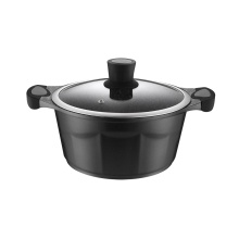 Black Die-Cast Aluminum Kitchen Panelas Potes